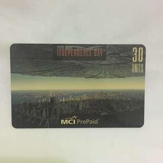 Kartu Telpon Independence Day 1996 Import Original
