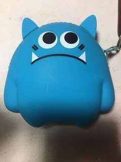 Cute Blue Sad Monster Coin Purse