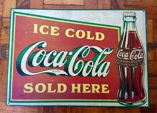 Vintage Collectible Coca-Cola Tin Plate