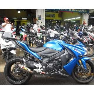 Suzuki GSXS1000 2016 $17.9K D/P $500 or $0 With out insurance (Terms and conditions apply. Pls call 67468582 De Xing Motor Pte Ltd Blk 3006 Ubi Road 1 #01-356 S 408700.