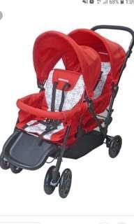 Mamalove tandem / twin stroller