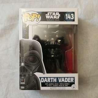 Darth Vader POP! 143 Star Wars Vinyl Bobble-Head Figure w/ Stand 星球大戰 黑武士