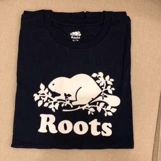 🚚 Roots加拿大🇨🇦男款純棉休閒短袖T恤