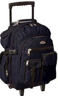 🚚 Everest Deluxe Wheeled Backpack, Navy (Blue) - 5045WH-NY