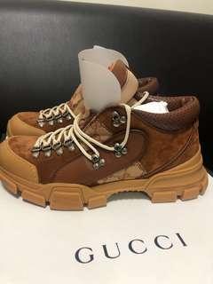 Gucci leather hiking Flashtrek GG Sneaker US 9