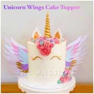 🦄 UNICORN WINGS CAKE TOPPER