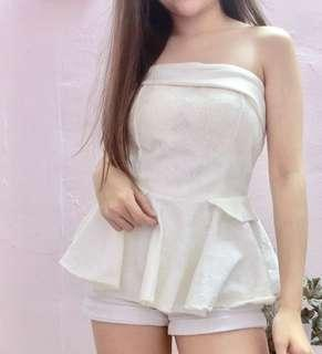 Brand new Korea Lacey tube top