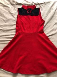 Chinese New Year red dress