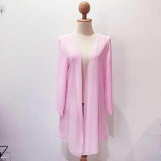 🆕BRAND NEW Pink Chiffon Long Cardigan