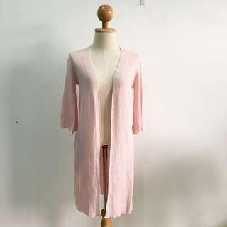 🆕BRAND NEW Quarter Sleeve Knitted Pink Long Cardigan