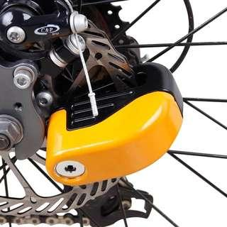 Motorcycle alarm lock