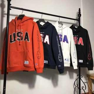 Champion USA Hoodie Pullover Sweater