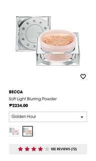 BECCA SOFTLIGHT POWDER