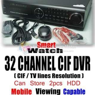 SMARTWATCH 32 CHANNEL D1 DVR