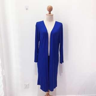 🆕BRAND NEW Basic Cotton Long Blue Cardigan