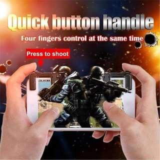 Brand New Pair of L/R Triggers for your handphone IOS Andriod player unknown battlegrounds PUBG Mobile with Free normal non-standard mailing by Singpost