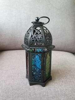 Decorative glass panel lamp