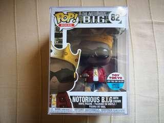 Notorious BIG, Notorious B.I.G with crown, Toy Tokyo NYCC limited edition, Funko Pop