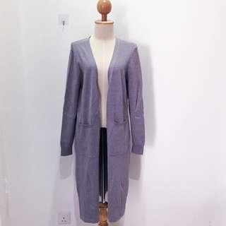 🆕BRAND NEW Premium Knitted Pocket Grey Maxi Cardigan