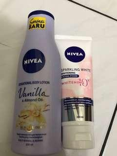 Nivea Sensational Body Lotion & Facial Foam Bundling