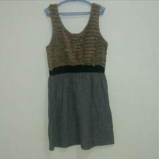 Grey&Brown Dress