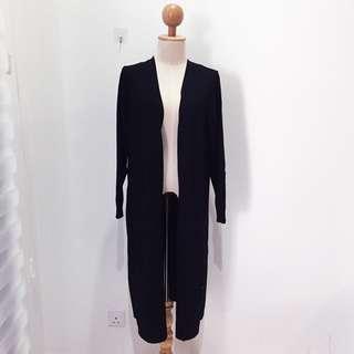 🆕BRAND NEW Premium Knitted Pocket Black Maxi Cardigan