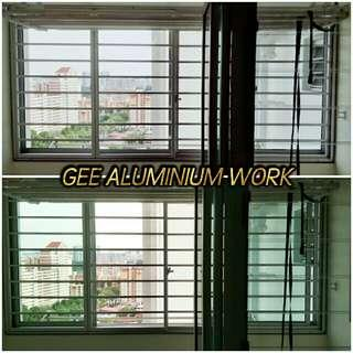 New BTO Flats Service yard Sliding Window and Sliding Grille