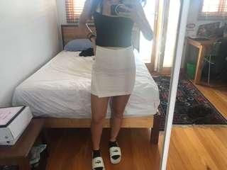 Crepe style skirt, mini skirt, bodycon