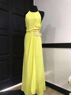 Designer made yellow gown