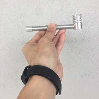 FREE POSTAGE + FREE GIFT!! Portable Aluminium Spring Smoking Pipe (Tobacco Pipe) | PRELOVED