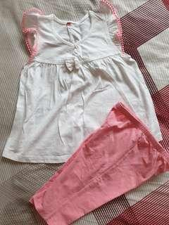 3-4yr blouse set