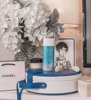 SALE: Biore uv aqua rich sunblock watery gel • SPF 50 pa++++ 90ml • almost new • popular Japanese skincare brand • sunscreen