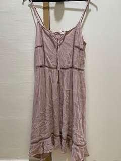 H&M dusty pink dress