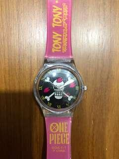 "NEW AND NOT WORN! Official One Piece Tony Tony Chopper Symbol of ""Death"" Watch"