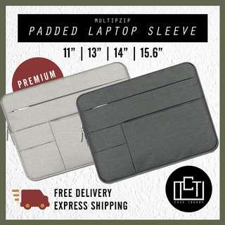 🚚 🔅cT🔅 MZIPV2 BK laptop sleeve laptop casing bag for all laptops 2 COLOURS SIZES