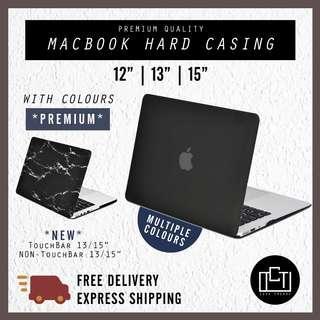🚚 🔅cT🔅 MACBOOK HARD CASING HARDCOVER hard casing for macbook air MacBook Pro touchbar 2 COLOURS TYPES