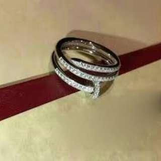 Nail Ring with full diamonds