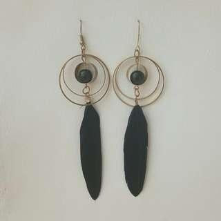 Ball Feather Earring