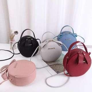 round cute mini sling bag