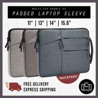 🚚 🔅cT🔅 MZIPH V2 BK Laptop sleeve laptop cover laptop case laptop casing bag MULTIZIP HANDLE laptop baggage 4 SIZES 3 COLOURS SIZE