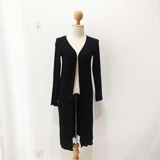 🆕BRAND NEW Basic Cotton Long Black Cardigan