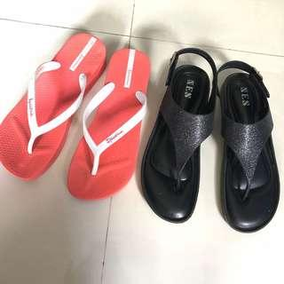 🚚 Plus Size Sandal Bundle (Ipamema & XES)