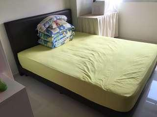 Queen size Bed Frame + Mattress