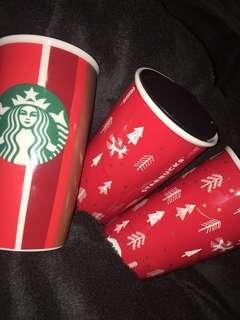 Starbucks ceramic mugs
