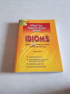 What You Need to Know about Idioms