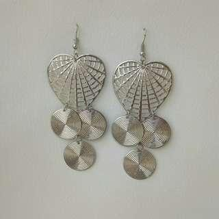 Silver Love Earring