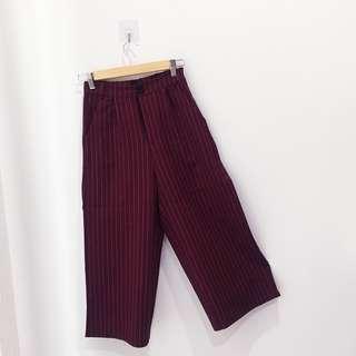 🆕BRAND NEW Striped Pocket Culottes Pants