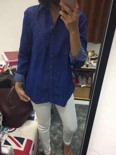 Kemeja Jeans lengan panjang #bersihbersih