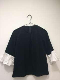 Black n white blouse #bersihbersih
