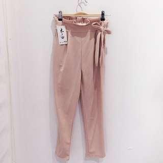 🆕BRAND NEW High Rise Ribbon Pants With Side Pockets